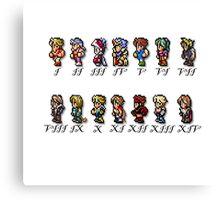 Final Fantasy Sprites Canvas Print