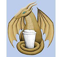 Latte Dragon (blue eye) Photographic Print