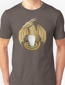 Latte Dragon (blue eye) Unisex T-Shirt