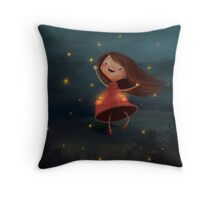 Catching Fireflies Throw Pillow