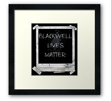 Blackwell Lives Matter Framed Print
