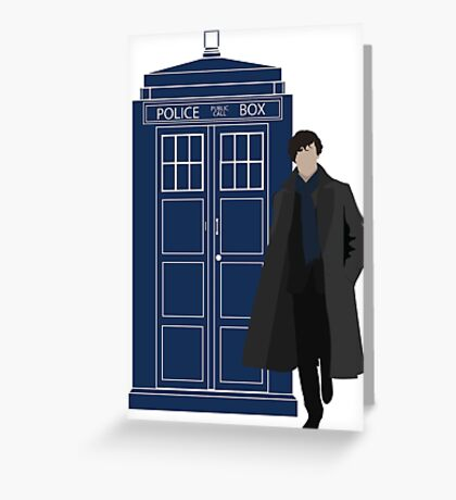 Dr. Who / Sherlock Greeting Card