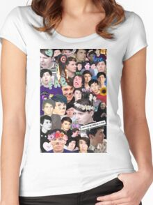 Dan and Phil Collage Women's Fitted Scoop T-Shirt
