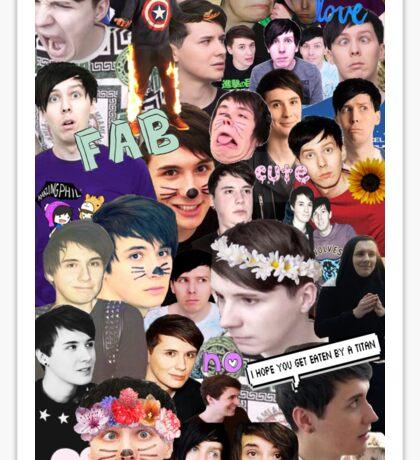 Dan and Phil Collage Sticker