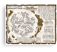 Adventurer's Guide to Common Runes Canvas Print