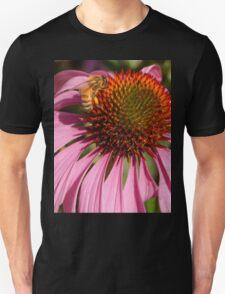 Macro Bee with Coneflower Unisex T-Shirt