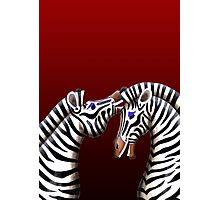 Zebra Jokes Photographic Print