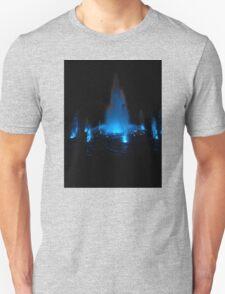 Blue Fountain at Night T-Shirt