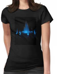 Blue Fountain at Night Womens Fitted T-Shirt