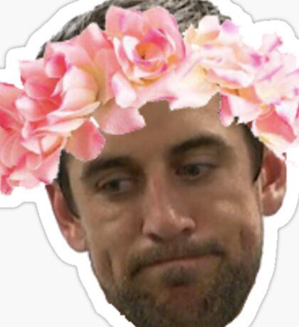 Flower Crown Aaron Rodgers  Sticker