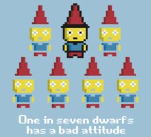 One in 7 dwarfs has a bad attitude Kids Clothes