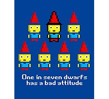 One in 7 dwarfs has a bad attitude Photographic Print