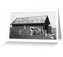 Harley Davidson MCC of SA Clubrooms 1926 Greeting Card