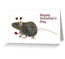 Valentine Rat card by Anne Winkler Greeting Card