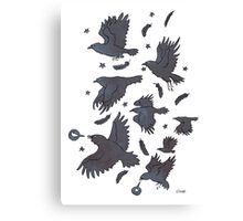 Flight of Ravens Canvas Print