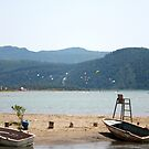 The Kite Surfer's Beach Akyaka Turkey by taiche