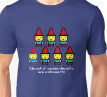 Six out of seven dwarfs are extroverts Unisex T-Shirt