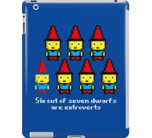 Six out of seven dwarfs are extroverts iPad Case/Skin