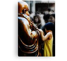 Touching Buddha Canvas Print
