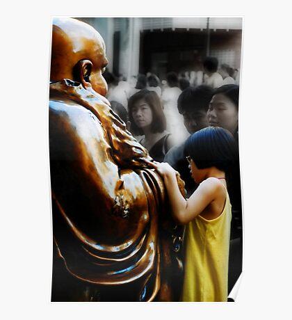 Touching Buddha Poster
