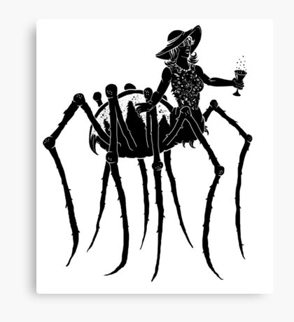 Black Widow at a Funeral Canvas Print