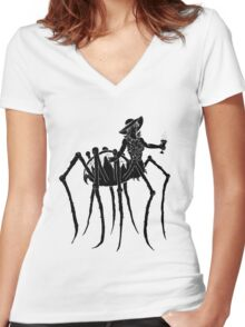 Black Widow at a Funeral Women's Fitted V-Neck T-Shirt