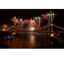 Rainbow Riverfire Photographic Print