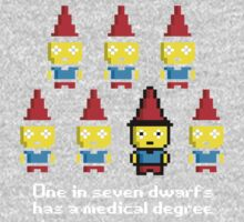 One in 7 dwarfs has a medical degree One Piece - Long Sleeve