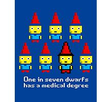One in 7 dwarfs has a medical degree Photographic Print