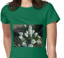 White Scented Stocks - Summer Gone By Womens Fitted T-Shirt
