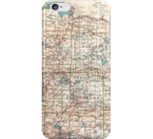 Topographic map iPhone Case/Skin