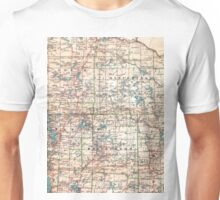 Topographic map Unisex T-Shirt