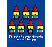 Six out of seven dwarfs are not happy Photographic Print