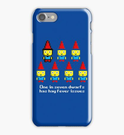 One in 7 dwarfs has hay fever issues iPhone Case/Skin