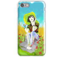 Oleo de una mujer con Sombrero iPhone Case/Skin