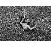 Beached Toy Army Man Photographic Print