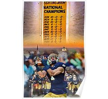 National Championships Notre Dame Poster