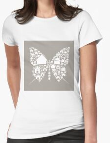 House the butterfly Womens Fitted T-Shirt