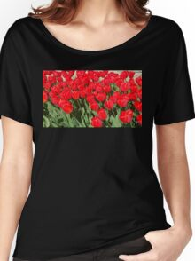 Belgium Tulips in Red Women's Relaxed Fit T-Shirt