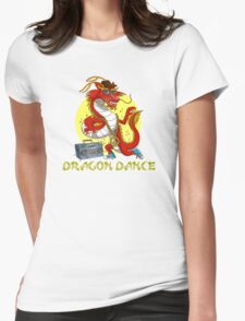 Dragon dance Womens Fitted T-Shirt