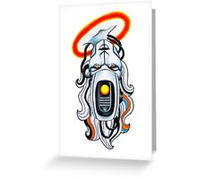 GlaDOS Garbo Greeting Card