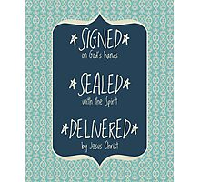 Signed Sealed Delivered Navy Photographic Print