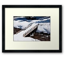 Crystal Creek Crossing Framed Print