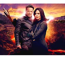 OUAT in the Underworld - Robin and Regina Photographic Print