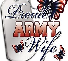 Army Wife Patriotic Butterfly T-Shirt by HotTShirts