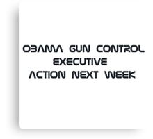 obama guns control executive Canvas Print