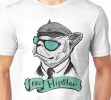 Hand Drawn Fashion Portrait of Bulldog Hipster  Unisex T-Shirt
