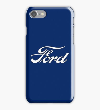 Classic Car Logos: Ford iPhone Case/Skin