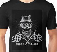 Biker tattoo or emblem hand drawn Unisex T-Shirt