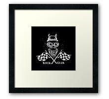 Biker tattoo or emblem hand drawn Framed Print